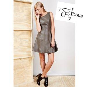 Eva Franco Leather Mini Dress 4
